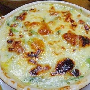 小松菜とウインナーのスープグラタン