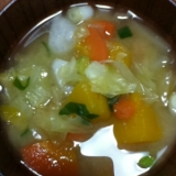 海老芋たっぷり野菜味噌汁