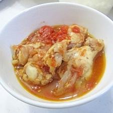 マイヤー電子レンジ圧力鍋(3)手羽元のトマト煮