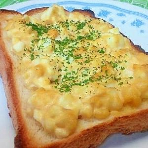 ツナ&ゆで卵のトースト その2