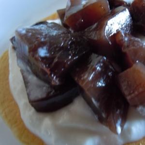大豆粉でようかんとヨーグルトパンケーキ