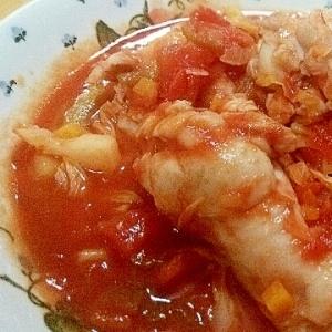 余った野菜活用♪圧力鍋で手羽元のトマト煮