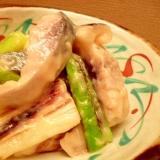 焼きねぎと〆サバの酢味噌和え(ぬた)