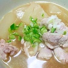 とうがん+塩麹漬け豚バラ肉のスープ