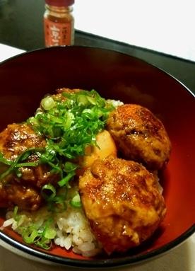 ふわふわ~♪のやわらかい鶏つくね丼