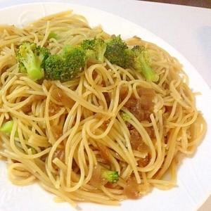 キャンベルミネストローネ缶で作るスパゲティ