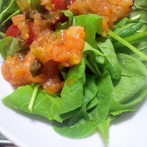 何度も食べたい♪炒め海老のサラダ