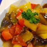 茄子ピーマンパプリカトマト炒め煮