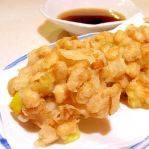 大豆と豚肉の天ぷら