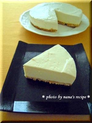 ミキサーで簡単レアチーズケーキ★