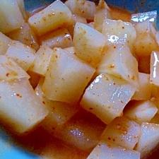 塩麹入り♪キムチの素で簡単カクテキ☆