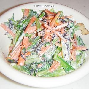 鉄分補給★小松菜とひじきとにんじんのサラダ