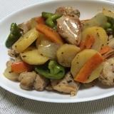 チキンと野菜のバジル炒め