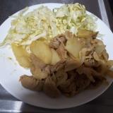 豚こま肉とじゃがいものカレー風味炒め