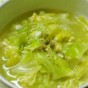 春キャベツの中華風スープ