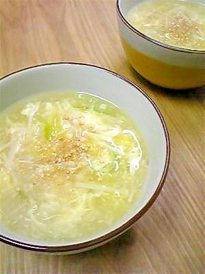 とろとろあったか☆白菜と玉子の中華スープ