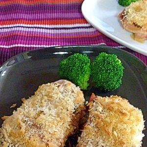 鶏肉のパン粉焼き☆マスタード風味