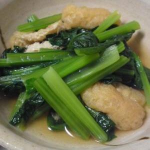 小松菜とうすあげの煮びたし