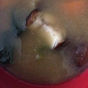なすと小松菜と人参の味噌汁