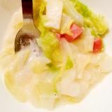 白菜と大根と玉ねぎとソーセージのクリーム煮