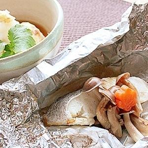 白身魚のホイル焼き&焼きだし豆腐