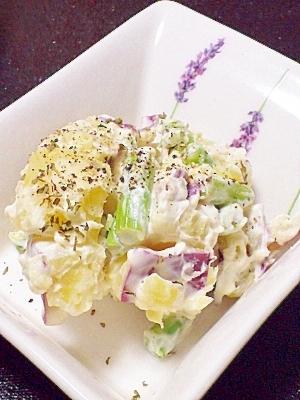 クリームチーズが隠し味♪さつまいものデリ風サラダ