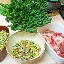 *葉野菜たっぷりの塩豚炒飯*