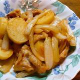 豚肉ジャガイモ玉葱のピリ辛味噌炒め