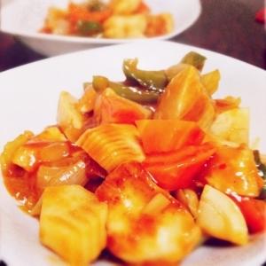 酢鶏✩鶏胸肉で節約レシピ✩