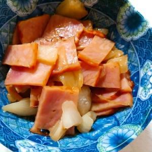 焼豚と玉葱のオイスター炒め