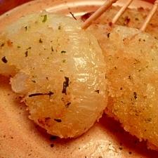 玉ねぎの粉チーズパン粉焼き