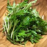 バルサミコ酢かけ水菜サラダ