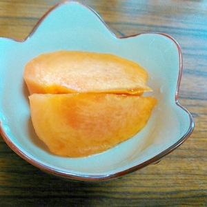 柿の甘酢蜂蜜漬け