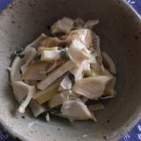 破竹の青じそマヨポン酢炒め