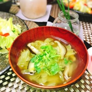 出汁が美味しい♪キャベツと椎茸のスープ