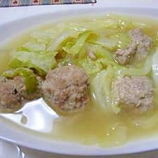 麩でボリュームアップ★肉団子スープ