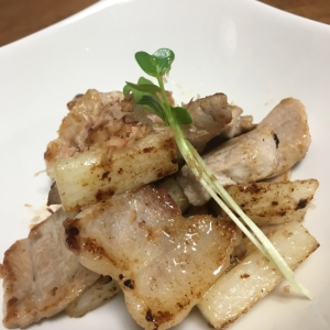 山芋豚バラ炒め
