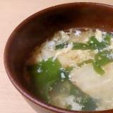 キムチわかめ卵スープ~味付けはダシダ~