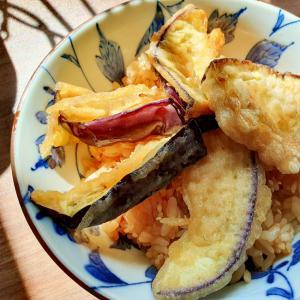 なすの天ぷら(^^♪ 炊き込みご飯