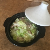 タジン鍋で!豚バラ白菜