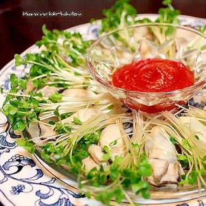 牡蠣のカクテルソース*前菜*オードブル