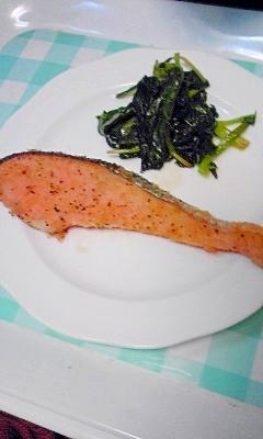 簡単!銀鮭のパン粉焼き、サクサク♪