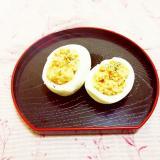 柚子胡椒風味♪ゆで卵のオイル&豆乳和え