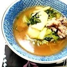 スープに挑戦★白菜たっぷりラーメン