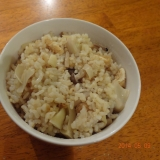 筍とシメジの炊き込みご飯