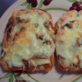 2種の舞茸チーズトースト