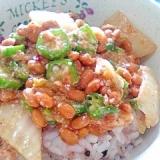 納豆の食べ方-キムチ&オクラ♪