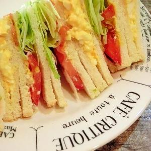 タマゴサンドと野菜サンド♪