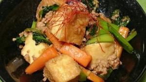 厚揚げと豚ひき肉の中華風炒め