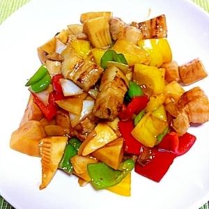 野菜たっぷりヘルシー酢豚